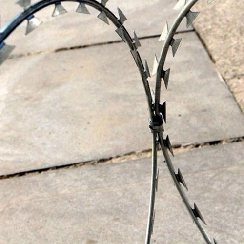 Galvanized Concertina Wire Loops